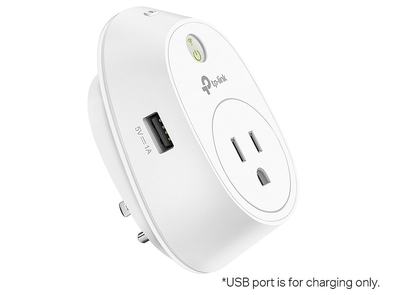 TP-LINK HS110 V2 Smart Plug with USB Charging Port, Wi-Fi En